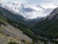 Refugio Chileno looms ahead. (Torres Del Paine)
