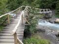 Bridge near the refugio.  (Torres Del Paine)