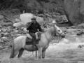 Crossing the stream. (Torres Del Paine)