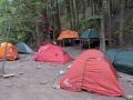 Tent City at Refugio Chileno. (Torres Del Paine)