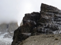Shrouded in clouds. (Torres Del Paine)